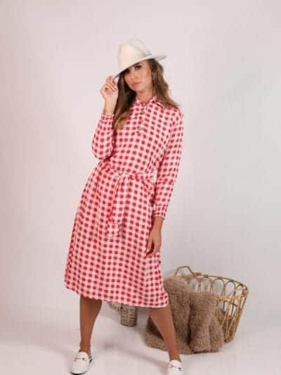 שמלת אדל משבצות