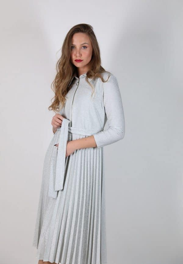 שמלת QUEEN - כסופה