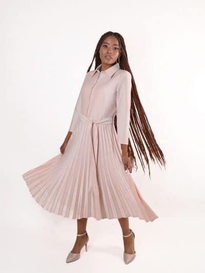 שמלת QUEEN - ורודה
